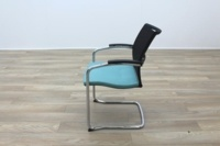 Sedus UP 233 Black Mesh Back Teal Seat Office Meeting Chairs - Thumb 5