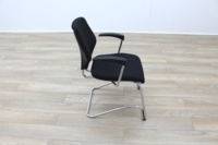 Giroflex Black Fabric Cantilever Office Meeting Chair - Thumb 6