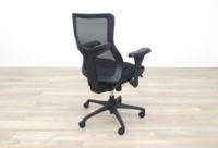 RS Pro Mesh Back Black Fabric Seat Operator Chair - Thumb 8