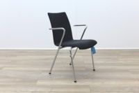 Brunner Grey Velour Meeting Chair with Armrests - Thumb 5