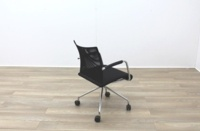 Zuco Visita Black Fabric Seat / Black Mesh Back Office Meeting Chair - Thumb 7