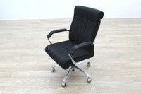 President Black Fabric Executive Office Task Chair - Thumb 3