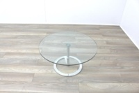 Boss Design Rota Circular Glass Office Coffee Table - Thumb 4
