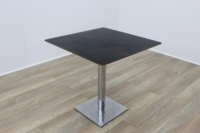 Black Square Coffee Table Chery Edge 750mm - Thumb 2