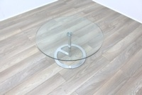 Boss Design Rota Circular Glass Office Coffee Table - Thumb 3