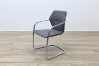 Brunner Grey Fabric Cantilever Meeting Chair - Thumb 3
