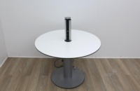 White meeting table with extendable cable port  - Thumb 3