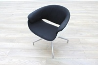 B&B Italia Sina Black Fabric White Back Office Reception Chair - Thumb 2