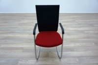 Connection Flex Red / Black Mesh Office Meeting Chairs - Thumb 3