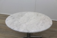 Circular Marble Table With Chrome Legs - Thumb 5