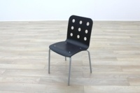 Black Wooden Office Canteen Chairs - Thumb 2