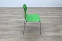 Allermuir Casper Green Shell Chrome Frame Office Meeting / Canteen Chairs - Thumb 4