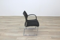 Herman Miller Black Fabric Seat Black Polymer Back Office Meeting Chairs - Thumb 6
