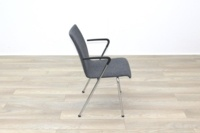 Brunner Light Grey Fabric Meeting Chair with Armrests - Thumb 6