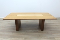 Sven Christiansen Walnut / Bird's Eye Maple Office Meeting Table - Thumb 3