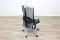 HAG H09 Inspiration Black Fabric Polished Aluminium Executive Office Task Chair - Thumb 7