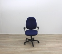 Blue Fabric Multifunction Office Task Chair - Thumb 2