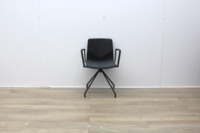 Four Grey Meeting Chair With Material Seat - Thumb 2