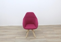 Pink Fabric Reception Chair - Thumb 3