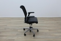 Interstuhl Black Leather Operator Chair - Thumb 6