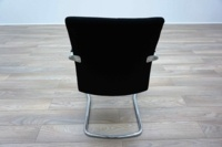 Ocee Design Black Fabric Cantilever Office Meeting Chairs - Thumb 5