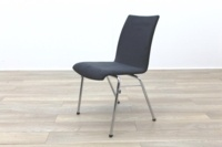 Brunner Grey Velour Meeting Chair - Thumb 3