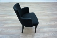 Black Patterned Office Reception Tub / Meeting Chairs - Thumb 4