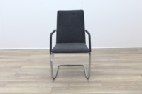 Brunner Fina Grey Fabric Cantilever Meeting Chair - Thumb 4