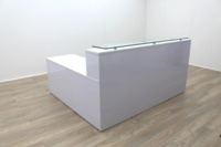 New Cancelled Order Gloss White Office Reception Desk Counter - Thumb 7