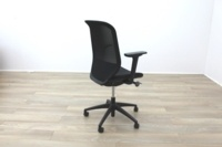 Orangebox Joy-12 Black Mesh / Fabric Office Task Chairs - Thumb 7
