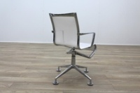 Alias Chrome Base White Mesh Office Meeting Chairs - Thumb 5