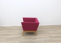 Pink Fabric Reception Tub Chair - Thumb 4