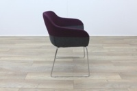 Brunner Purple and Grey Fabric Reception Tub Chair - Thumb 6