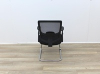 Black Meeting Chairs With Mesh Back and Fabric Seat - Thumb 5