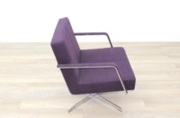 Brunner Purple Fabric Reception Chair - Thumb 6