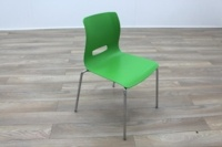 Allermuir Casper Green Shell Chrome Frame Office Meeting / Canteen Chairs - Thumb 5