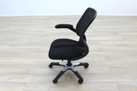 Black Fabric / Mesh Back Multifunction Office Task Chairs - Thumb 4