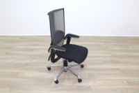 HAG H09 Inspiration Black Fabric Polished Aluminium Executive Office Task Chair - Thumb 5