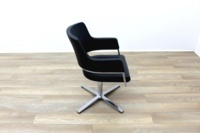Brunner Black Leather Self Centering Executive Meeting Chair - Thumb 6