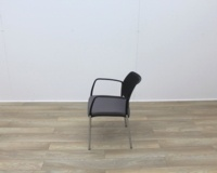 Boss Stacking Meeting Chairs Black Back And Grey Seat - Thumb 4