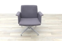 Brunner Grey Fabric Self Centering Meeting/Reception Chair - Thumb 4