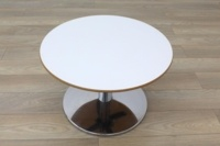 Allermuir White Top Cherry Edge Coffee Table - Thumb 3