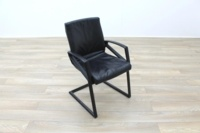 Sitag Black Leather Executive Office Meeting Chairs - Thumb 2
