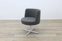Brunner Grey Fabric Reception Tub Chair - Thumb 3