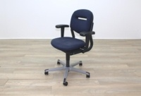 Ahrend Blue Fabric Operator Chair - Thumb 3