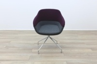 Brunner Purple and Grey Fabric Reception Tub Chair - Thumb 4