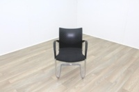 Herman Miller Black Fabric Seat Black Polymer Back Office Meeting Chairs - Thumb 3