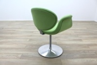 Artifort Little Tulip Chair, Green Fabric Office Reception - Thumb 7