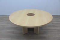 Sven Christiansen Maple Veneer Executive 1600mm Circular Office Meeting Table - Thumb 3