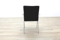 Black Fabric / Chrome Office Meeting Chairs - Thumb 8